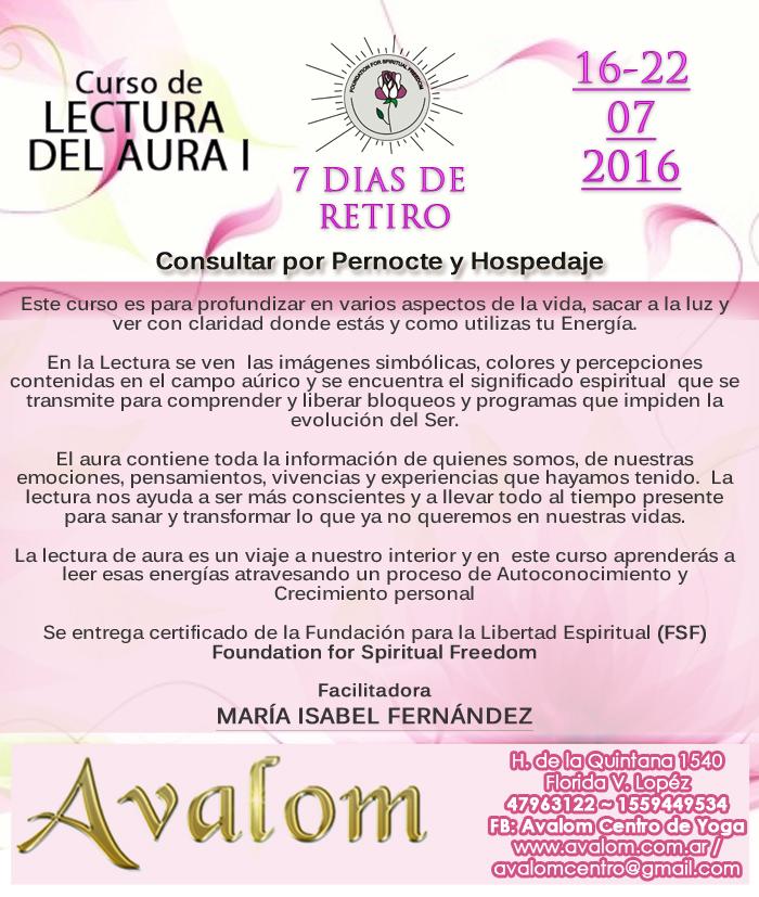 Curso de Lectura del Aura I dictado por María Isabel Fernández en Avalom. bef40f2f9285